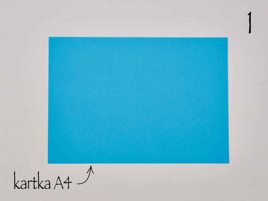 Krok 1: kartka A4